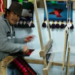 An Ecuadorian weaver in the Highlands