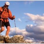 using a hiking stick