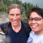 Me and Elske on Big Spruce trail.