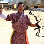 A Bhutanese archer wearing his Gho.