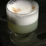 Peru's traditional Pisco Sour cocktail.