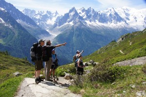 A hiking adventure trip in the French Alps.