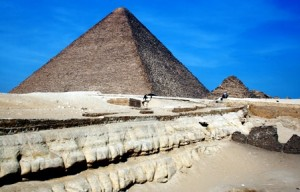 Th Pyramids of Giza, Egypt.