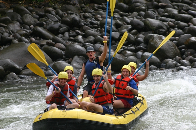 Rafting along the Balsa River, in Costa Rica.