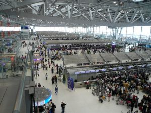 Bangkok international airport terminal