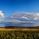 Scotland landscape with ocean