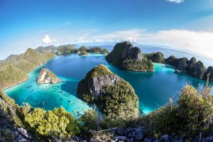Raja Ampat Indonesia bird's eye view