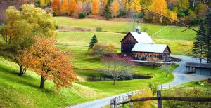 Vermont barn in fall
