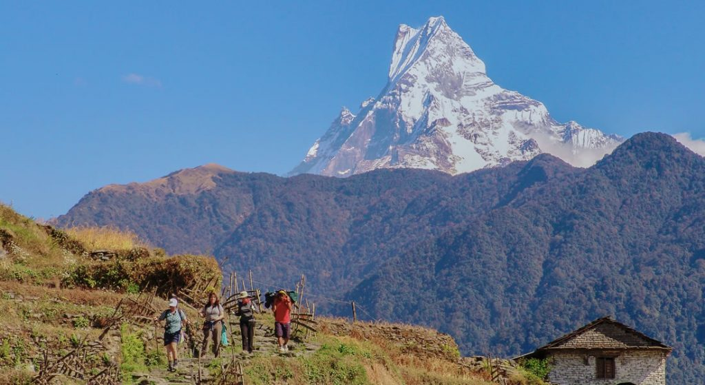 Hike in Bhutan and Nepal via lodge supported treks